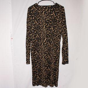 Tory Burch Silk Jersey Leopard Print Mini Dress